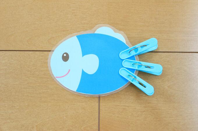魚の洗濯ばさみおもちゃ