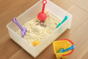 キネティックサンド風ムーンサンドの作り方!これぞ室内砂遊びの究極系