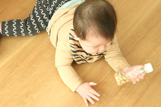 赤ちゃんには鬼の金棒風マラカス