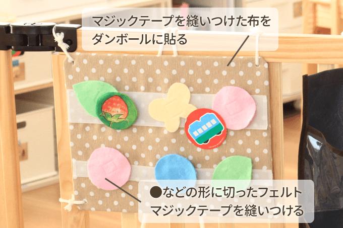 マジックテープおもちゃの作り方