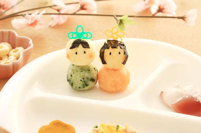 離乳食の雛人形風!おひなマッシュポテト