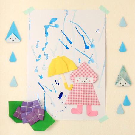 雨の日の制作