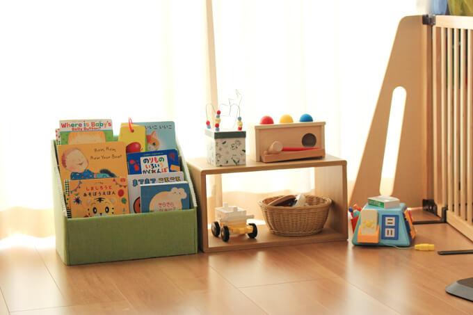 ベビーのおもちゃ棚