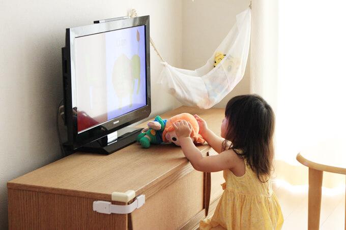 ミライコイングリッシュを受講している1歳の子ども